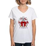 Malafaia Family Crest Women's V-Neck T-Shirt