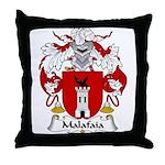 Malafaia Family Crest Throw Pillow