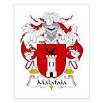 Malafaia Family Crest Small Poster