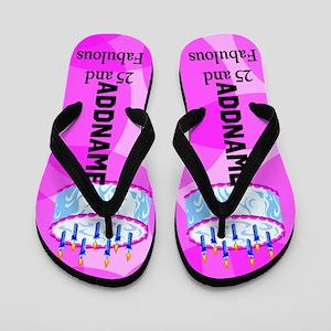 Stylish 25th Flip Flops