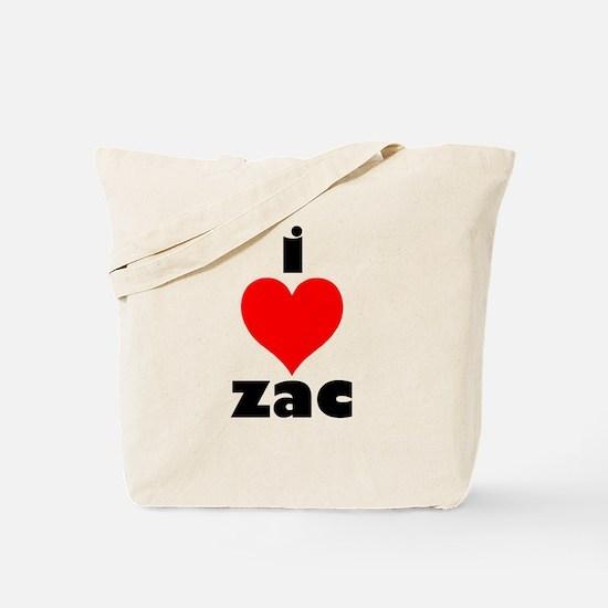 I Love Zac Tote Bag