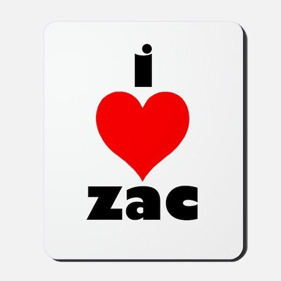 I Love Zac Mousepad