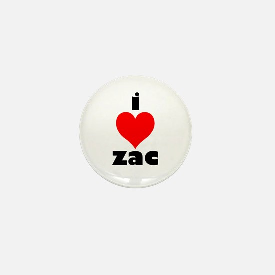 I Love Zac Mini Button