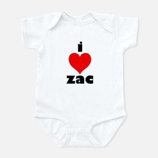 I Love Zac Infant Bodysuit