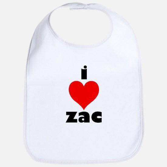 I Love Zac Bib