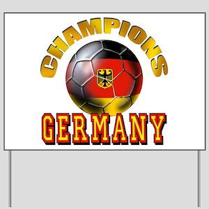 Germany Soccer Yard Sign
