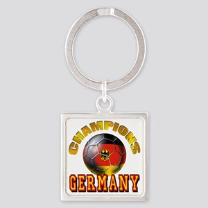 Germany Soccer Square Keychain