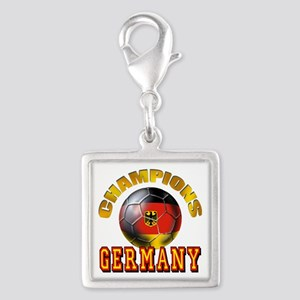 Germany Soccer Silver Square Charm