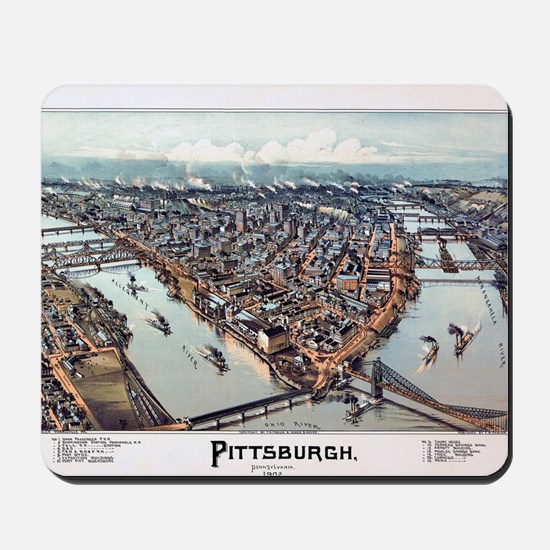 Pittsburgh Pennsylvania 1902 Mousepad