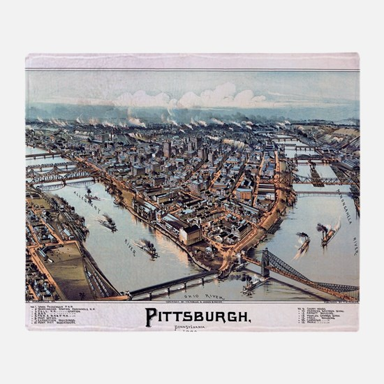 Pittsburgh Pennsylvania 1902 Throw Blanket