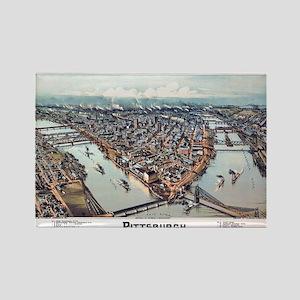 Pittsburgh Pennsylvania 1902 Rectangle Magnet