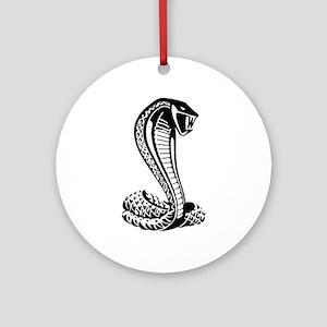 cobra python snake Ornament (Round)