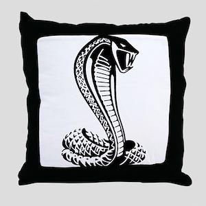cobra python snake Throw Pillow