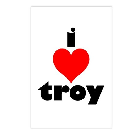 i love troy Postcards (Package of 8)