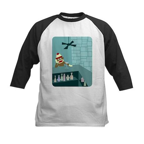 Sock Monkey Martini Kids Baseball Jersey
