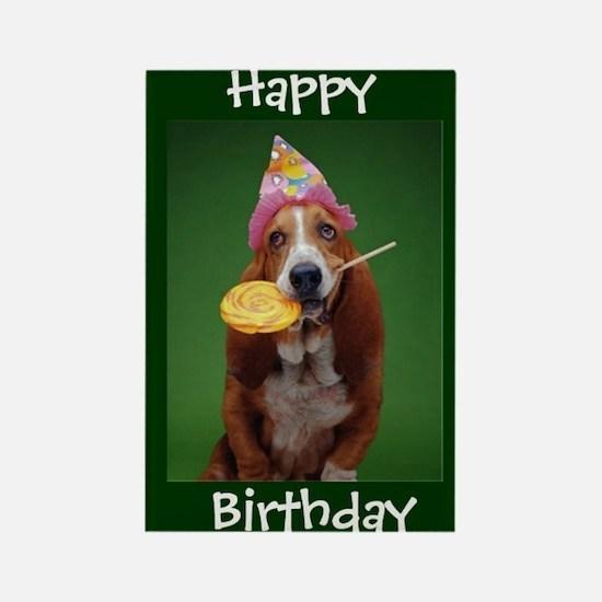 Basset Hound Birthday Lollipop Magnets