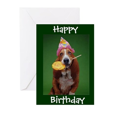 Basset hound birthday lollipop greeting cards by stargiftshop bookmarktalkfo Gallery
