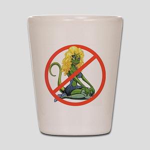 No Lot Lizards Shot Glass