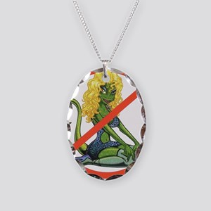 No Lot Lizards Necklace Oval Charm