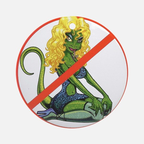 No Lot Lizards Round Ornament