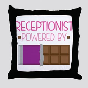 Receptionist Throw Pillow