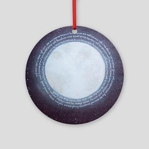 Angel Moon Poem Round Ornament