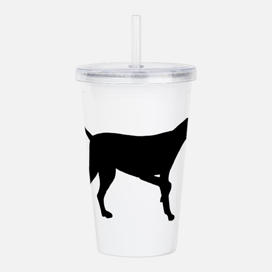 Pointer Dog On Point Acrylic Double-wall Tumbler
