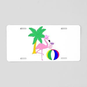 Pink Flamingo Tourist Aluminum License Plate
