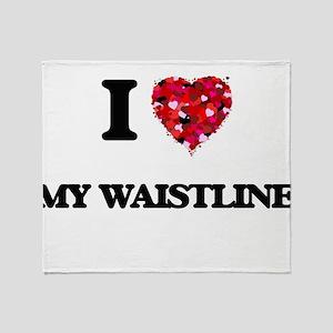 I love My Waistline Throw Blanket