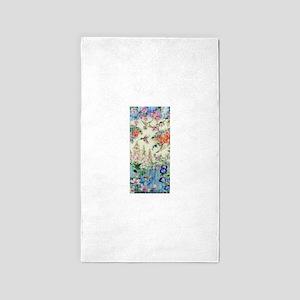 Hummingbirds and Flowers Area Rug