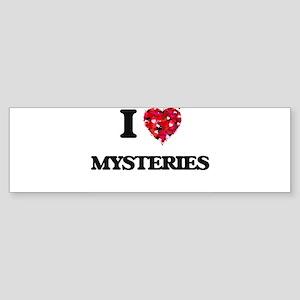 I Love Mysteries Bumper Sticker