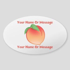 PERSONALIZED Peach Cute Sticker (Oval)