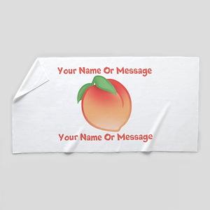 PERSONALIZED Peach Cute Beach Towel