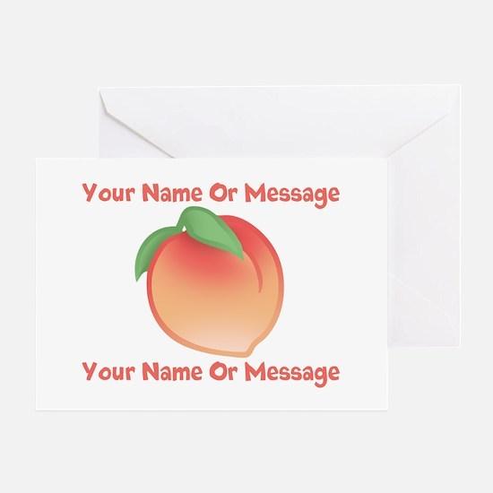PERSONALIZED Peach Cute Greeting Card