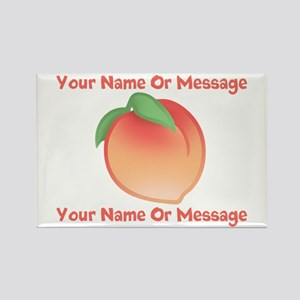 PERSONALIZED Peach Cute Rectangle Magnet