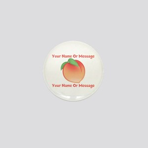 PERSONALIZED Peach Cute Mini Button