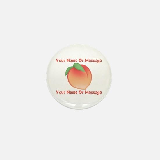 PERSONALIZED Peach Cute Mini Button