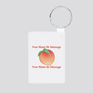 PERSONALIZED Peach Cute Aluminum Photo Keychain