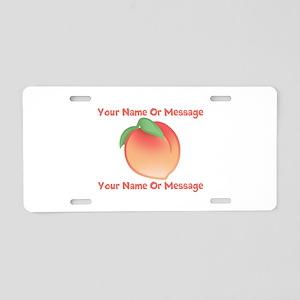 PERSONALIZED Peach Cute Aluminum License Plate