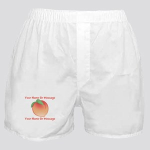 PERSONALIZED Peach Cute Boxer Shorts