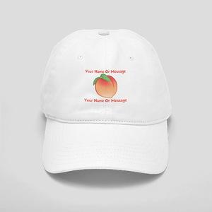 PERSONALIZED Peach Cute Baseball Cap