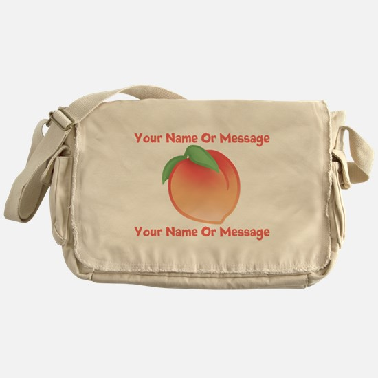PERSONALIZED Peach Cute Messenger Bag