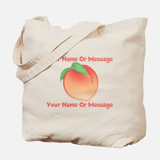 PERSONALIZED Peach Cute Tote Bag