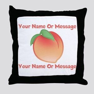 PERSONALIZED Peach Cute Throw Pillow