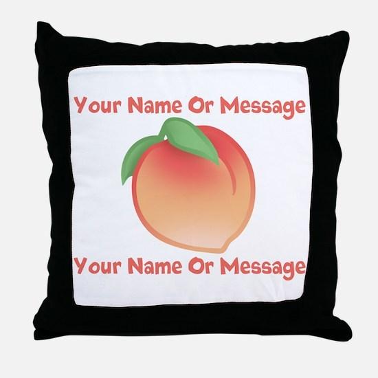 PERSONALIZED Peach Cute Throw Pillow