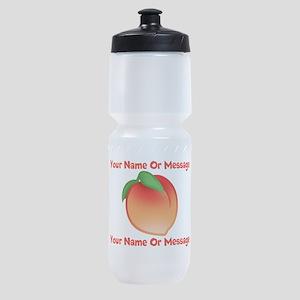 PERSONALIZED Peach Cute Sports Bottle