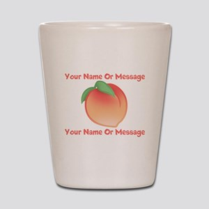 PERSONALIZED Peach Cute Shot Glass