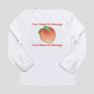 PERSONALIZED Peach Cute Long Sleeve T-Shirt