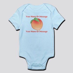 PERSONALIZED Peach Cute Body Suit
