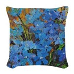 Delphinium Woven Throw Pillow